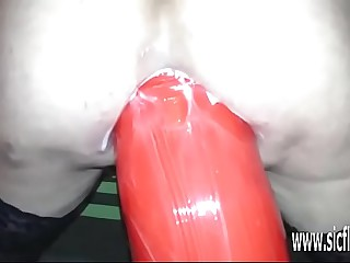 Strapping dildo wrecks Annas prolapsing botheration