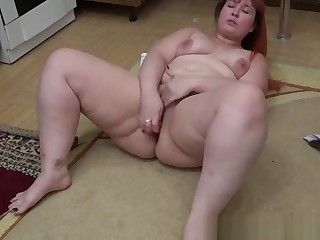An anal with a marking a young housewife