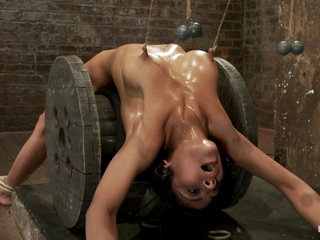 Sexy Brunette Experiences Nipple Torture, Brutal Crotch Rope And Extreme Bondage. - HogTied