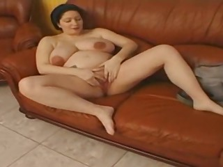 Pregnant danish bbw laid