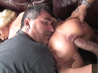 Cuckold watching young spliced fucked monster black cock