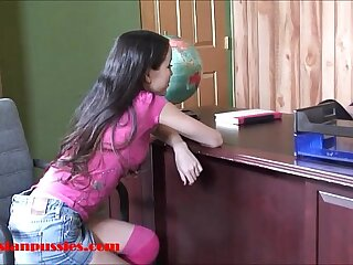 Small tiny asian 18 year old school main gets penny-pinching pussy twinkle plus facial